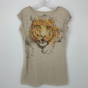 Tiger Print T-shirt Size Medium